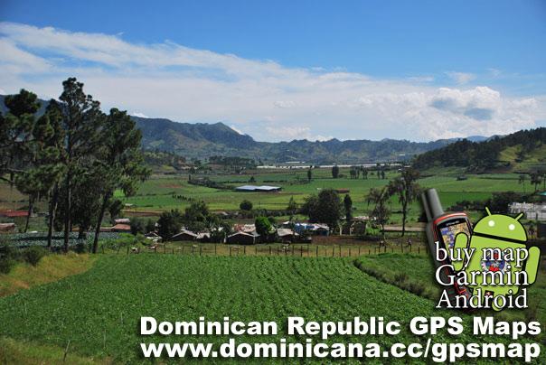 Constanza on Dominican Republic GPS Map