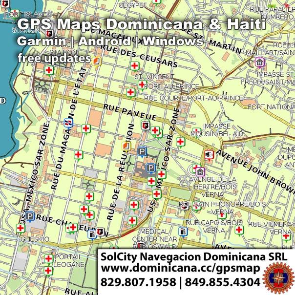 Detailed GPS Garmin Maps of Dominican Republic & Haiti