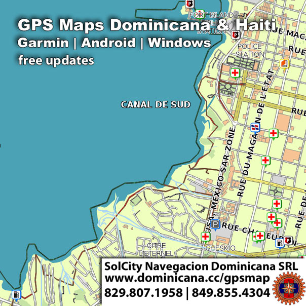GPS maps of Haiti, Android y Garmin version
