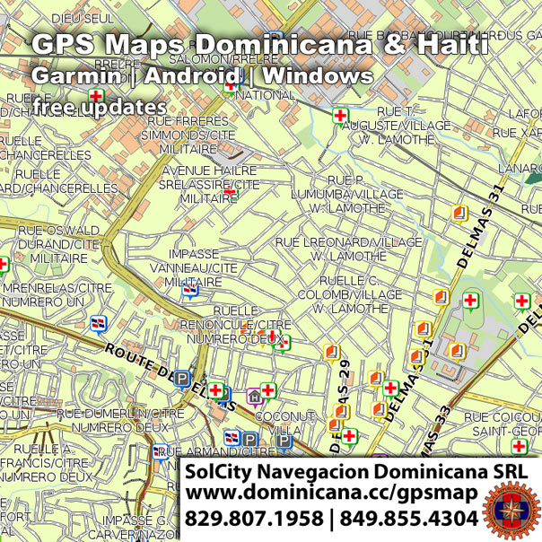 Haiti and Dominican Republic GPS maps for Gamrin devices and Android offline version maps app