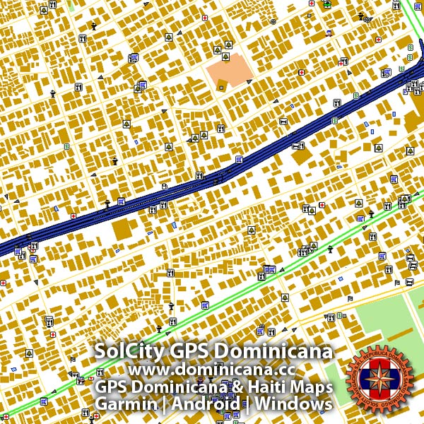 Dominican GPS Map for Garmin devices