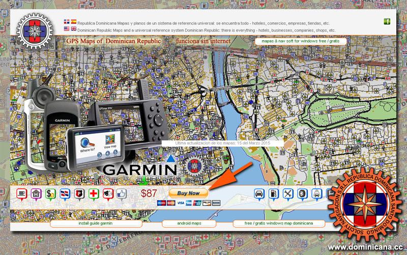 Garmin Dominicana GPS mapa de Republica Dominicana  Haiti para
